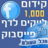 1000 לייקים לדף פייסבוק